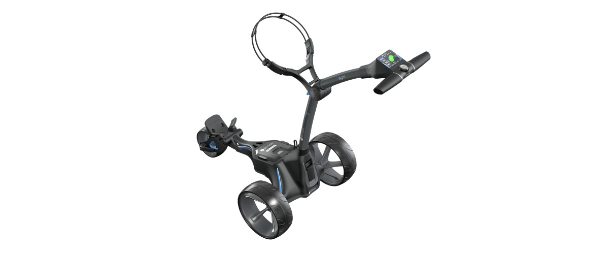 GPS Motocaddy M5 GPS High Angle 1200x500 1 - GPS-Entfernungsmesser - High-Tech auf der Golfrunde