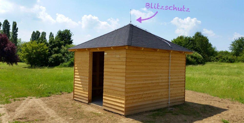 Blitzschutzhütte