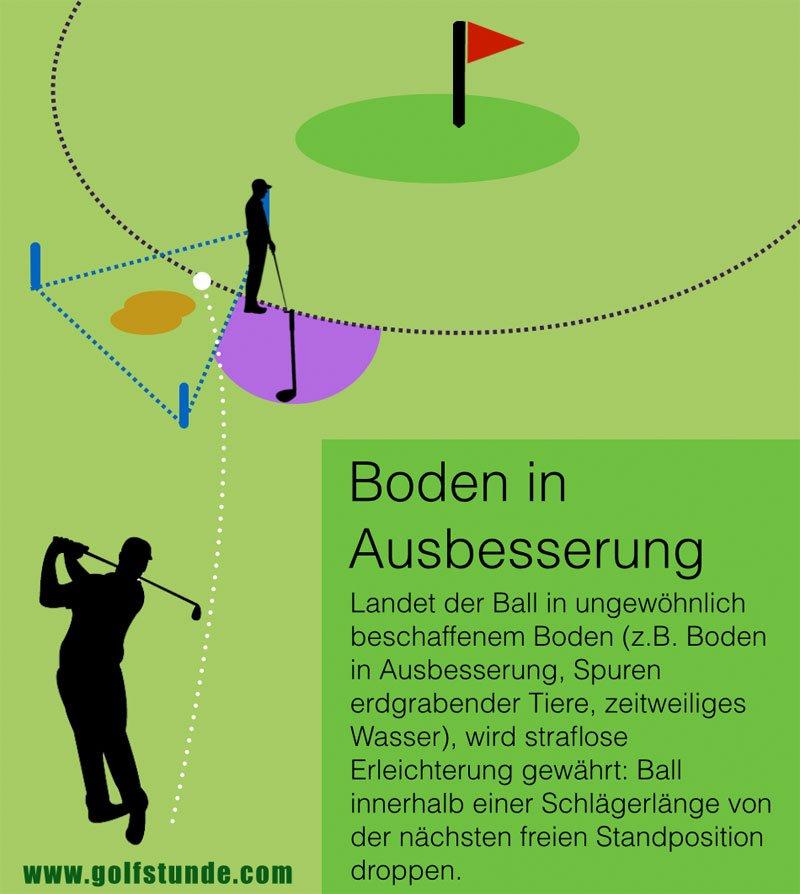 boden in ausbesserung golfstunde
