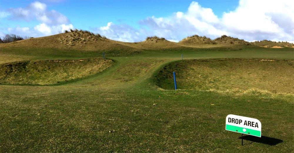 drop area golf - Droppen