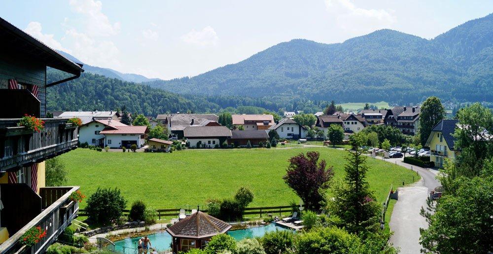 ebners waldhof ausblick - Golfurlaub am Fuschlsee in Österreich