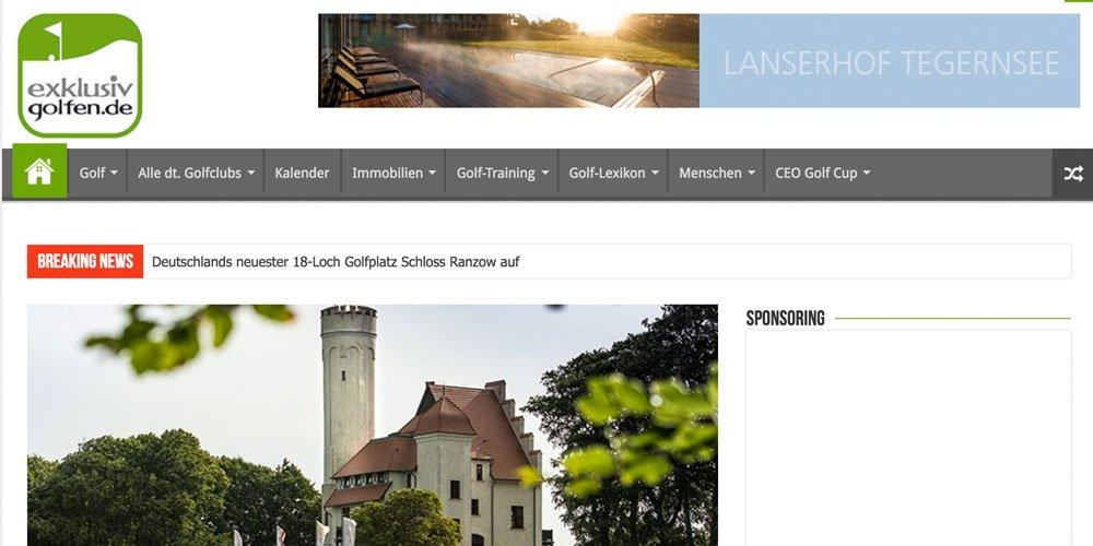 exklusiv golfen - Die 10 größten deutschen Golf-Webseiten 2017