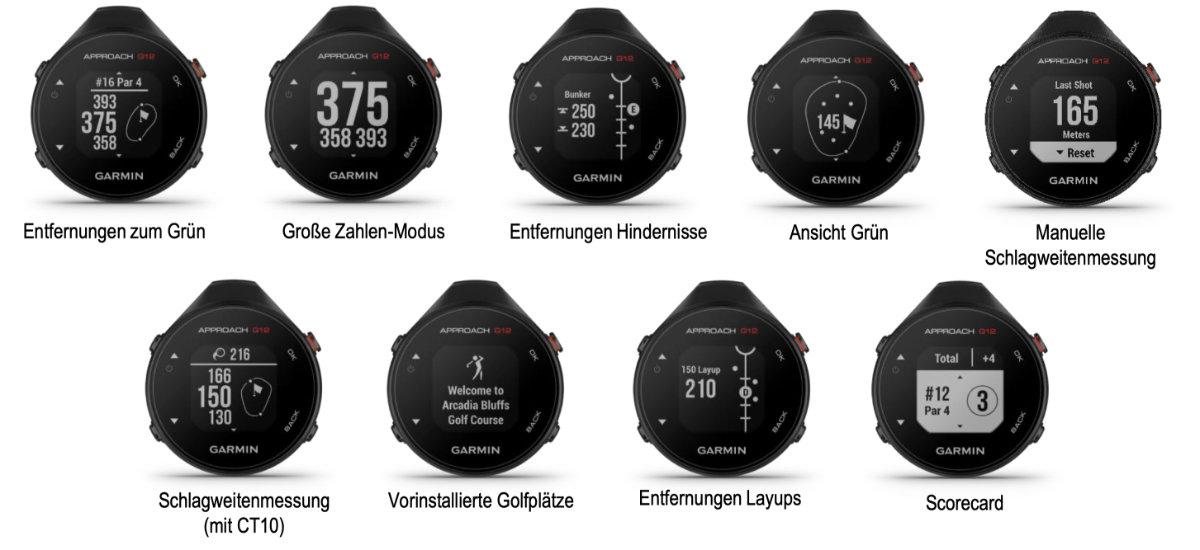 garmin g12 screenshots - Approach G12 – Das neue Golf-GPS von Garmin im Test