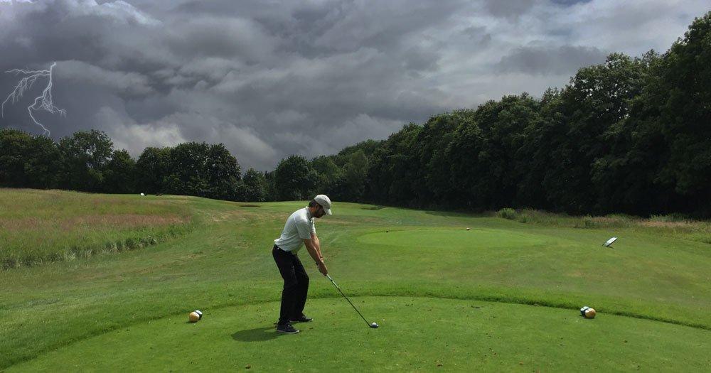 Gewitter beim Golf