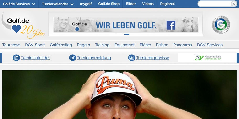 golf de 1 - Die 10 größten deutschen Golf-Webseiten 2017
