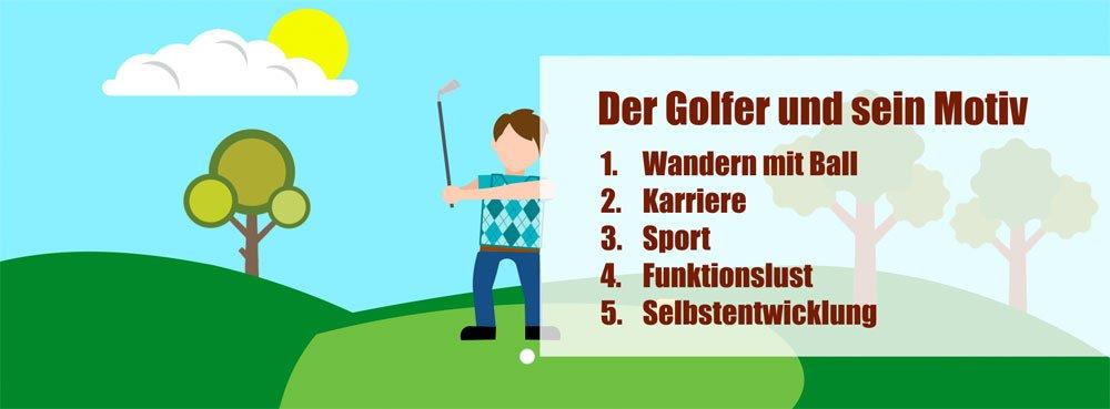 golf motiv - Der Golfer und seine Psyche – Wer ist eigentlich dieser Typ, der Dich auf jeder Runde begleitet?