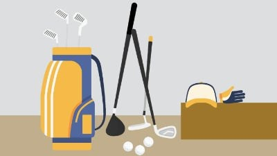 Golfschläger und Golfausrüstung