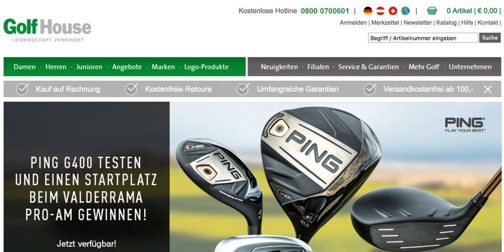 golfhouse - Die 10 größten deutschen Golf-Webseiten 2017