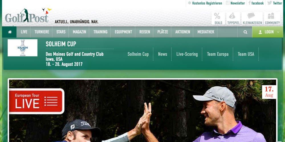 golfpost - Die 10 größten deutschen Golf-Webseiten 2017
