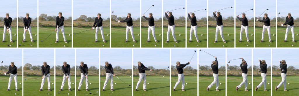 golfschwung 1024x329 - So kontrollierst Du Deine Ausrichtung auf der Driving Range