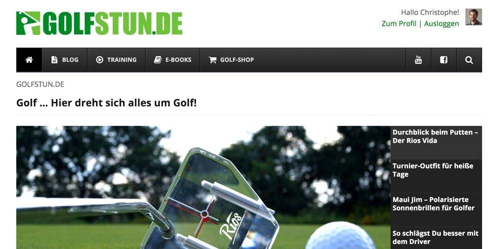 golfstunde screenshot - Die 10 größten deutschen Golf-Webseiten 2017