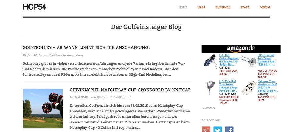 hcp54 - Handicap 54 - Golf-Blog für Einsteiger