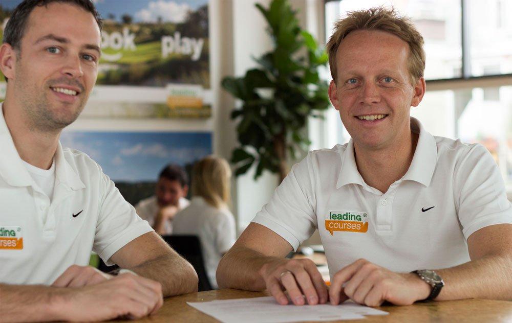 Die Gründer von leadingcourses.com  - Jeroen (rechts) und Bjorn