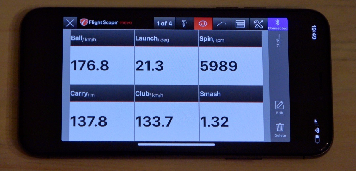 mevo app - FlightScope Mevo – Mini Launch-Monitor im Test