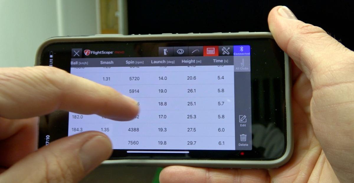 mevo statistiken - FlightScope Mevo – Mini Launch-Monitor im Test