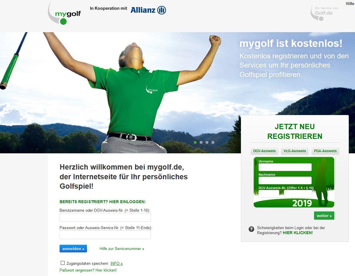 mygolf registrierung - MyGolf.de – Das bietet das Service-Portal des DGV