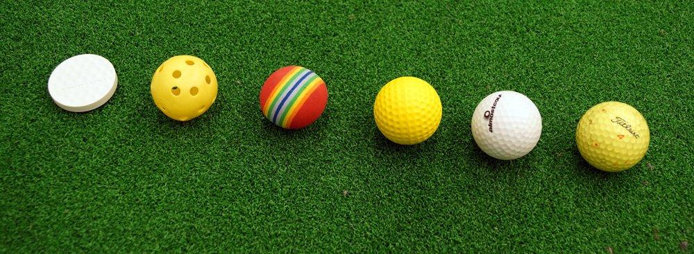 Flat-, Luft, Schaumstoff-, Gummi-, Crossgolf- und Golfball