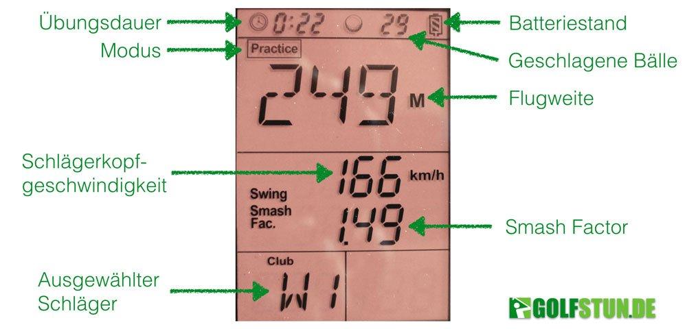 swing caddie werte - Swing Caddie - Launch-Monitor für Amateur-Golfer