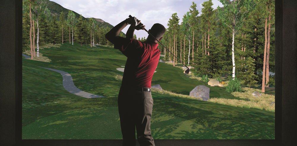 Golfen am Full Swing Simulator