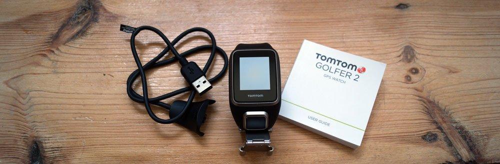 Im Lieferumfang: Uhr, USB-Kabel und Anleitung