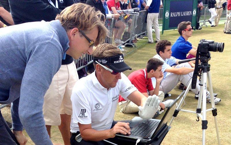 Ian Poulter auf der Range bei den Open 2013