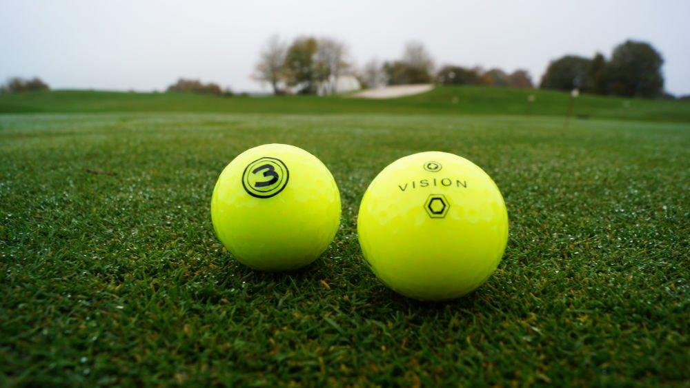 vision golfbaelle gelb - Bunte Golfbälle für den Winter