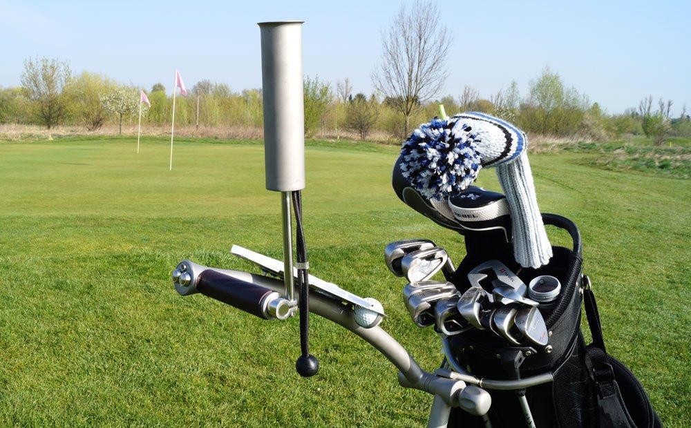 Montierbare Golfschirmhalterung (ohne Werkzeug)
